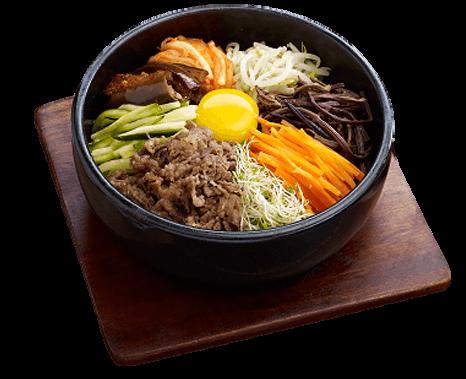 """ร้านอาหาร สไตล์เกาหลี """"The Bibimbab"""" มีเมนูที่เป็นที่นิยมของร้านแห่งนี้ก็คือ เมนูข้าวยำเกาหลี"""
