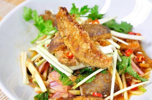 เมนูยำปลาสลิด เมนูยำที่ยิ่งกินกับข้าวต้มก็ยิ่งอร่อย