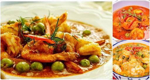 เมนูพะแนงกุ้ง ที่มีความหอมของพริกแกงกับน้ำกะทิ